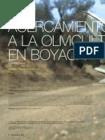 Acercamiento a la Olivicultura en Boyacá