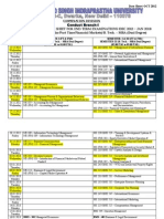 date sheet of mba ipu