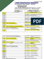 date sheet of mba ipu
