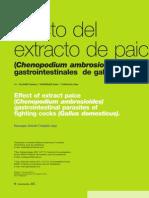 Efecto del extracto de paico (chenopodium ambrosioides), en parásitos gastrointestinales de gallos de pelea (gallus domesticus).