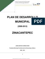 Desarrollo Urbano ZINACANTEPECPDM2009-2012