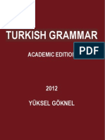 TURKISH GRAMMAR UPDATED ACADEMIC EDITION YÜKSEL GÖKNEL OCTOBER 2012