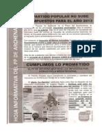 Hoja Informativa Del PP de Archena