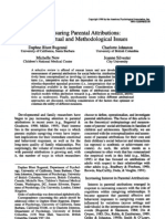 Measuring Parental Attributions- Conceptual and Methodological Issues