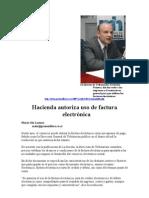 Hacienda autoriza uso de factura electrónica