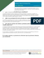 Programas de préstamos federales en Espanol - Spanish