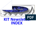 KIT Newsletter - Index