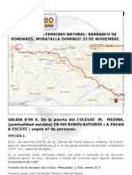 Itinerario Barranco Hondares