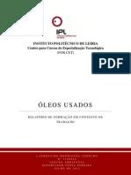 RELATÓRIO DE FORMAÇÃO EM CONTEXTO DE TRABALHO - Óleos Usados