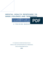 Mental Health Response to Mass Violence and Terrorism