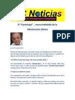 El Centrinaje... marca indeleble de la idiosincracia chilea, Arturo Alejandro Muñoz.