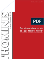 L'hoministe - Des circoncisions