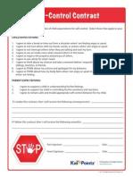 Behavior Self Control Contract