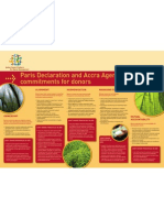 Paris Declaration and Accra Agenda for Action commitments for donors