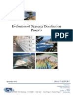 Evaluation of Seawater Desalination Projects by SPI November 2012