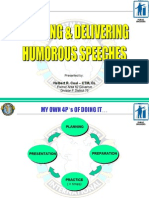 Tips on Delivering Humorous Speech