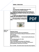 Herbs & Herbal Medicines