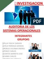 Auditoria de Los Sistemas Operacionales