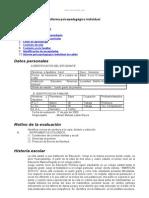 Modelo Informe Psicopedagogico Individual