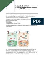Examen Departamental de Biologia Celular