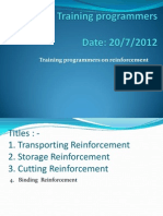 Training Programmers. Reniforcementptx145525