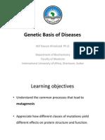 Genetic basis of disease (1)