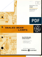 GE Miniature Sealed Beam Lamps Catalog 1975