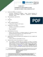 Sūdzība Eiropas komisijai par Ministru kabineta lēmumu t.s. fotoradaru lietā un Publisko iepirkumu likuma nepiemērošanu (angļu valodā)