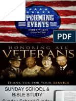 September 11, 2012 Announcements