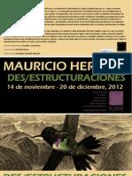"""Mauricio Herrero,""""des/estructuraciones"""", en La Zona de entrenarte"""