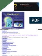 Mind Control - Gedanken - Und Bewusstseinskontrolle - Nichts Ist Wie Es Scheint - Wer Die Gefahr Nicht Kennt