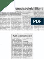 Audit personeelsbeleid Eiland