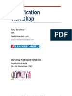 Gamification Workshop for Loyalty World Asia