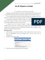 Require e include para insertar otros archivos en PHP 20 Curso PHP Tutoriales Academia Usero Estepona
