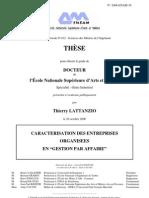 Memoire de These de Thierry LATTANZIO - Version Definitive