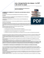 chambre de Commerce Rorganisation Du Rseau La CGT Demande La Tutelle de Revoir La Copie
