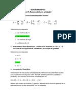 Act 8 Lección evaluativa Unidad No. 2 - Metodo Numerico