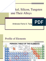Nickel, Silicon, Tungsten and Their Alloys 3