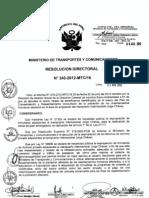 Tercer listado de beneficiarios de reasentamiento inmediato de la población de los asentamientos humanos en el Área de ampliación de aeropuerto Internacional Jorge Chávez Resolución Directoral N° R.D. N° 243-2012-MTC_16 - 3 de agosto de 2012