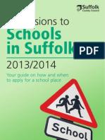 Schools in Suffolk Booklets 2013-2014 (Directory)