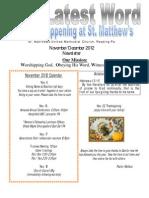 November_December Newsletter