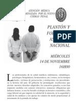 Volante Federación Médica Ecuatoriana y Colegio Médico Pichincha