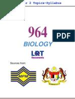 964 Biology [PPU] Semester 2 Topics-Syllabus