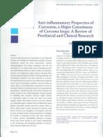 Anti-Inflammatory Properties of Curcumin, A Major Constituent of Curcuma Longa - A Review of Preclinical and Clinical Research