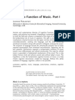Cognitive Function of Music
