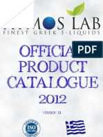 ATMOS LAB 's OFFICIAL PRODUCT CATALOGUE 2012 ENGLISH