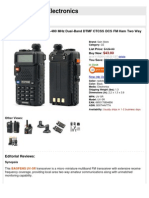 BaoFeng UV-5R 136-174/400-480 MHz Dual-Band DTMF CTCSS DCS FM Ham Two WayRadio