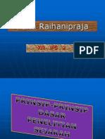 Rana Prinsip Prinsip Dasar Penelitian Sejarah
