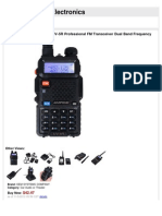 Two-Way Radio BAOFENG UV-5R Professional FM Transceiver Dual Band FrequencyProtable Radio