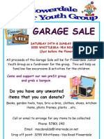 Garage Sale 24th & 25th November 2012